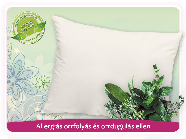 allergiás orrfolyás és orrdugulás ellen párna 2 az 1-ben