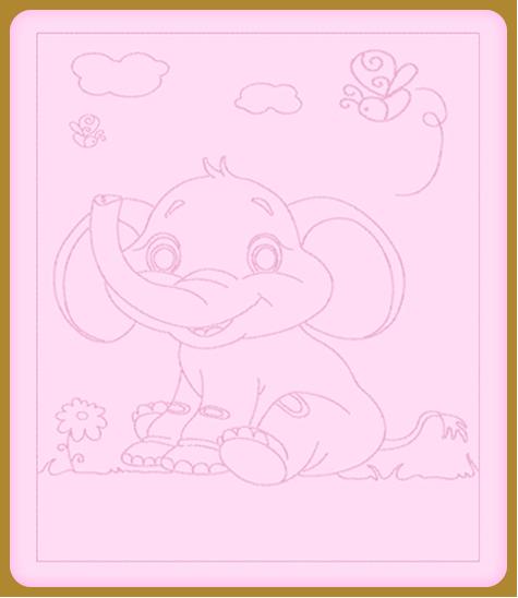 Elefántos hímzett gyerekpaplan