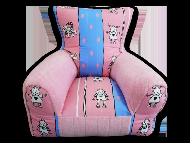 gyerkőcök gyerekfotel kékes-rózsaszín karfával