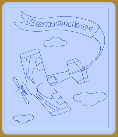 Repülős hímzett gyerekpaplan