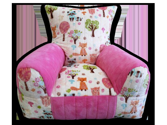 Rókás rózsaszín gyerekfotel
